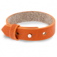 Cuoio bracelet leather 15 mm for 20 mm cabochon Burnt Orange