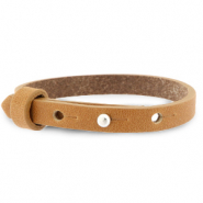 Cuoio bracelet leather 8 mm for 12 mm cabochon Copper Brown
