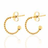 Stainless steel earrings creole 12mm Gold