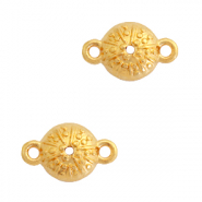 DQ European metal charms connector urchin round 10mm Gold (nickel free)