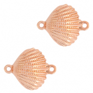 DQ European metal charms connector shell Rose Gold (nickel free)