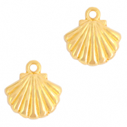 DQ European metal charms shell Gold (nickel free)