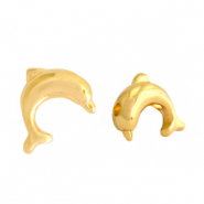 DQ European metal beads dolphin Gold (nickel free)