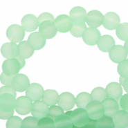 6 mm glass beads matt Neo Mint Green