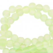 6 mm glass beads matt Light Limeade Green