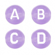 Acrylic letter beads mix Lilac Purple Transparent