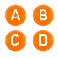 Acrylic letter beads mix Paradise Orange Transparent