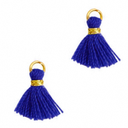 Tassels 1cm Gold-Princess Blue