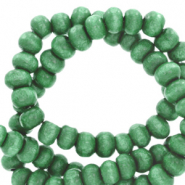 Wooden beads round 6mm Basil Green