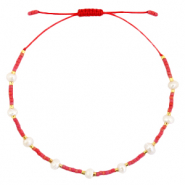 Ready-made Bracelets Pearl Miyuki Coral Red