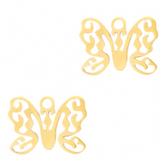 Stainless steel charms butterfly Gold