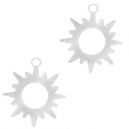 Stainless steel charms sun Silver