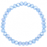 Top faceted bracelets 6x4mm Lavender Blue-Pearl Shine Coating