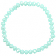Top faceted bracelets 6x4mm Clearwater Blue-Pearl Shine Coating