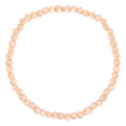 Top faceted bracelets 4x3mm Peach Orange-Pearl Shine Coating