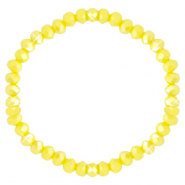Top faceted bracelets 6x4mm Blazing Yellow-Pearl Shine Coating