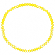 Top faceted bracelets 3x2mm Blazing Yellow-Pearl Shine Coating