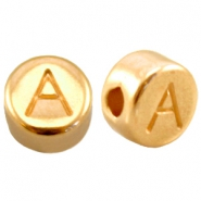 DQ European metal beads gold DQ European metal gold letter beads
