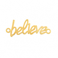 "DQ European metal charms connector ""believe"" Gold (nickel free)"