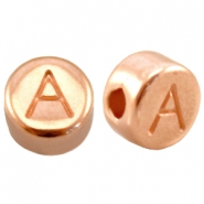 DQ European metal beads rose gold DQ European metal rose gold letter beads