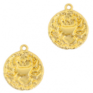 Brass TQ metal charms zodiac sign cancer Gold