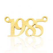 Stainless steel charms/connector year 1985 Gold