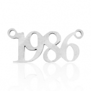 Stainless steel charms/connector year 1986 Silver