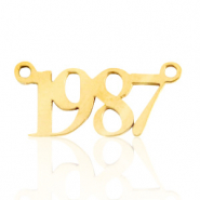 Stainless steel charms/connector year 1987 Gold
