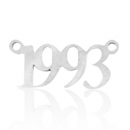 Stainless steel charms/connector year 1993 Silver