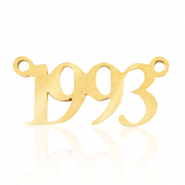 Stainless steel charms/connector year 1993 Gold
