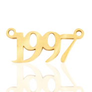 Stainless steel charms/connector year 1997 Gold