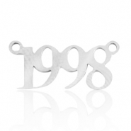 Stainless steel charms/connector year 1998 Silver