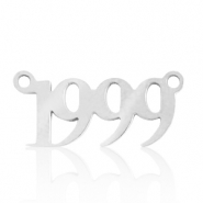 Stainless steel charms/connector year 1999 Silver