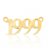 Stainless steel charms/connector year 1999 Gold