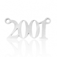Stainless steel charms/connector year 2001 Silver