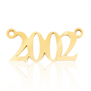 Stainless steel charms/connector year 2002 Gold