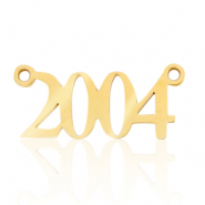 Stainless steel charms/connector year 2004 Gold