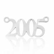 Stainless steel charms/connector year 2005 Silver