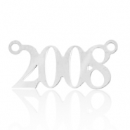 Stainless steel charms/connector year 2008 Silver