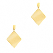 Stainless steel charms rhombus Gold