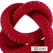 Maritime cord 10mm (3x30cm) Bordeaux Red
