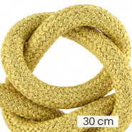 Maritime cord 10mm (3x30cm) Metallic Gold