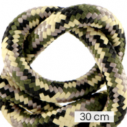 Maritime cord 10mm (3x30cm) Multicolour Army