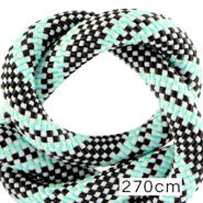 Maritime cord 10mm (270cm) Multicolour Turquoise Black