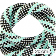 Maritime cord 10mm (4x20cm) Multicolour Turquoise Black