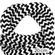 Maritime cord 10mm (4x20cm) White-Black