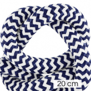 Maritime cord 10mm (4x20cm) White-Dark Blue