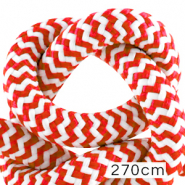 Maritime cord 10mm (270cm) White-Red