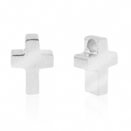 Stainless steel beads cross Silver