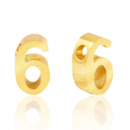Stainless steel beads number 6 Gold